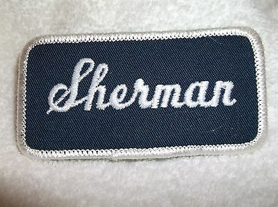 Sherman Used Embroidered Vintage Sew On Name Patch Tag Assorted Colors Venta Caliente De Productos
