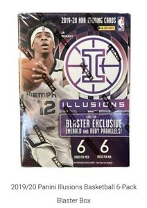 2019-2020-Panini-Illusions-NBA-Basketball-Blaster-Box-Factory-Sealed