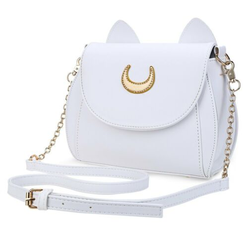 NEW Cat Shape Chain Shoulder Bag PU Leather Women Kawaii Summer Sailor Moon