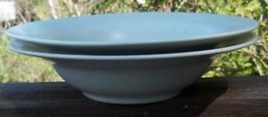 SET-OF-2-Lindt-Stymeist-LINEN-Rimmed-Soup-Bowls-8-1-2-inches-across-top
