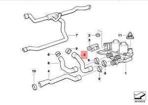 genuine bmw e36 hose for heater control valve and radiator oem rh ebay com Heater Circuit Eemax Water Heater Schematic