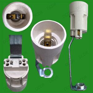 E14 Ses Lamp Holder With Stem White Light Bulb Socket