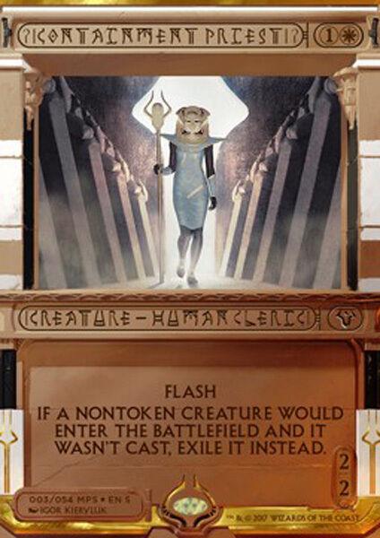 Mtg containment priester folie (- sacerdotessa del contenimento - ai - magie