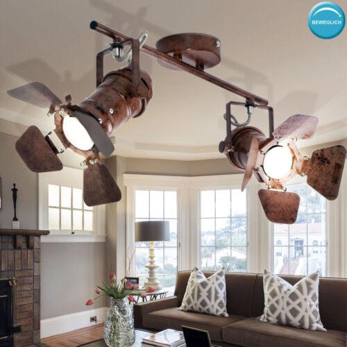 Retro Decken Hänge Lampen rost Schein Werfer Tisch Strahler Wand Spots beweglich