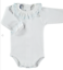 Frill Collar Vest by Spanish Brand Babidu 3months to 24 months-White with Blue