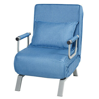Folding 5 Position Convertible Sleeper Bed Armchair ...