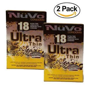 Nuvo Condoms Ultra Thin Lubricated Premium Latex 18 Count