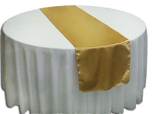 30 tissu lame Chemins De Table 14 x108  Métallique Or ou Argent Mariage événement Fête
