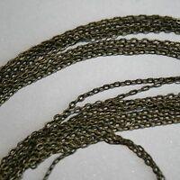 Bronze Metal Chain For Bjd Dollfie Jewelry Necklace Bracelace Diy Craft 95cm