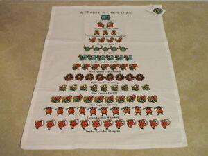 whimsical a seniors christmas 12 days of christmas david price tea towel new tag ebay. Black Bedroom Furniture Sets. Home Design Ideas