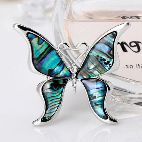 Butterfly Abalone Shell Brooch Pin Wedding Bridal Bouquet  Animal Brooch JewJJQ