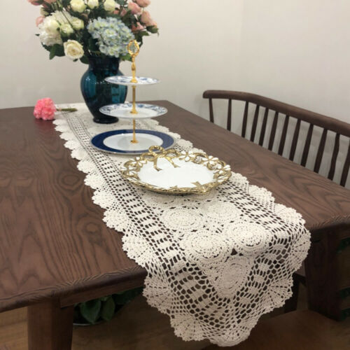 Table Runners Hand Crochet Table Runner Handmade Coffee Table Dresser Decoration Cover Doily Home Furniture Diy Quatrok Com Br