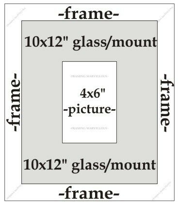 Choose size Antique Silver Effect Photo Picture Frame with Black Mount
