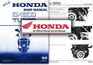 honda cx500 turbo service workshop repair shop manual cx 500 tc rh ebay co uk Honda HR214 Service Manual Honda GX340 Service Manual