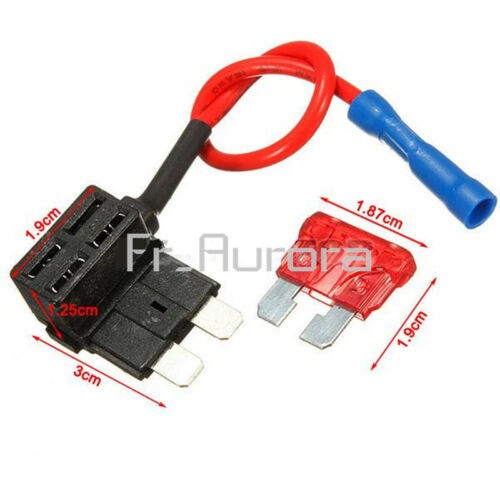 12V 10A ACS Add A Circuit Fuse Micro//Mini//Standard TAP Adapter Blade Fuse Holder