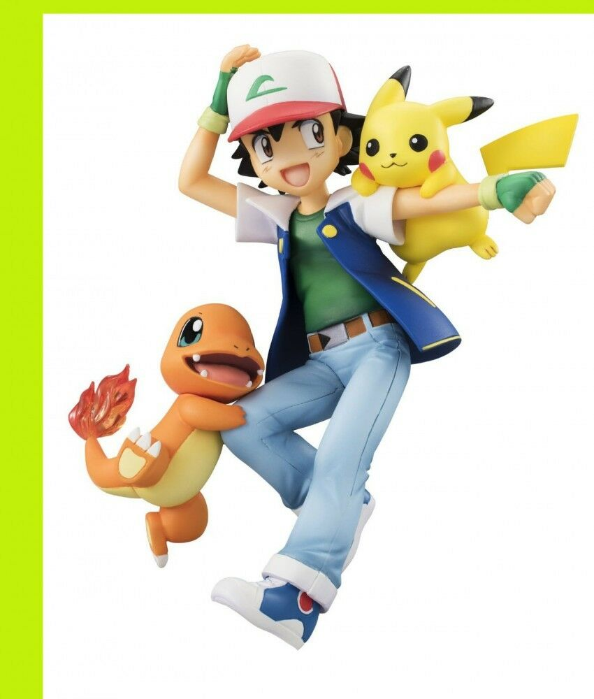 G. E.m.Pokemon Ash Pikachu Satoshi Charmander Hitokage Figur Japan