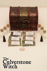 Details about Starter Herb Chest Kit A - Witch Wicca Pagan Witchcraft Charm  Spells Ritual
