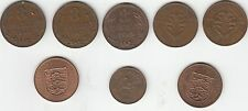 Jersey & Guernsey collection 8 coins (1940 - 1960)