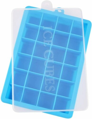 1//3 Stück Eiswürfelform Silikon Eiswuerfelbehaelter Mit Deckel Eiswürfelbox Tray