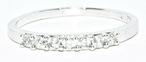 Solid 925 Sterling Silver CZ Ring