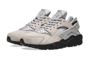 reputable site 158ea 2ffb9 Image is loading AUTHENTIC-NIKE-Air-Huarache-Run-SE-Matte-Silver-