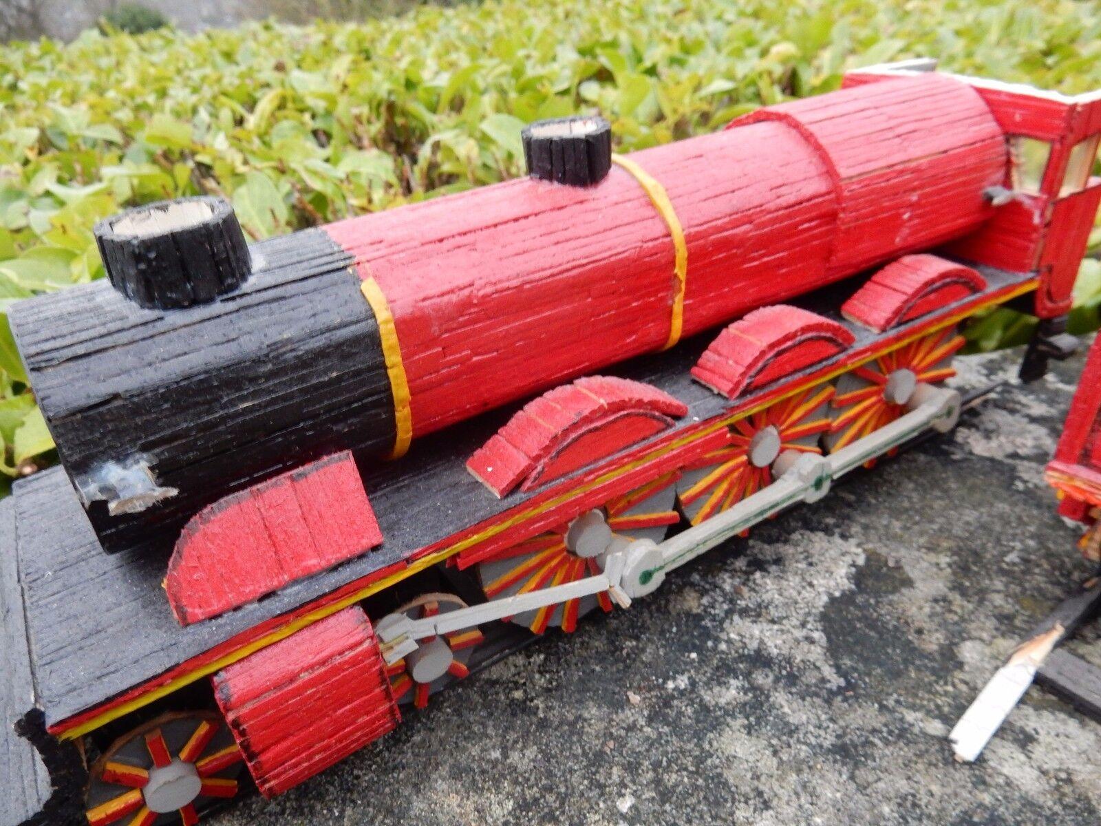 Tren de vapor Matchstick Grande Para Restaurar proyecto de Regalo Regalo Regalo Decoración Cueva de hombre leer en 9f6455
