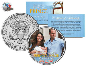 ROYAL BABY *Prince George of Cambridge* William & Kate JFK Half Dollar Coin ,new