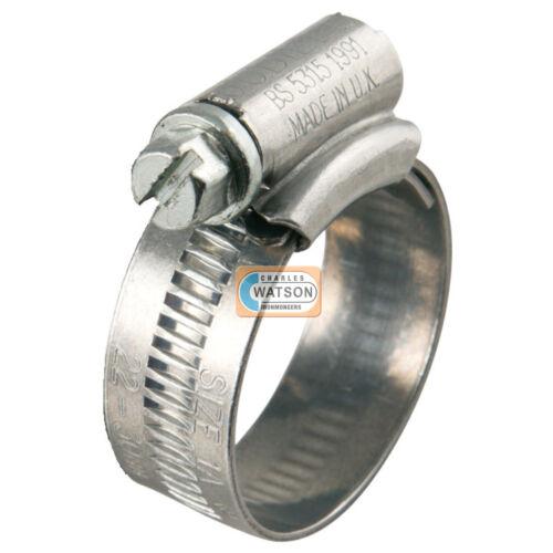 Genuine JUBILEE Clip 4 70-90mm Hose Fuel Clamp Worm Drive Petrol Pipe Line.