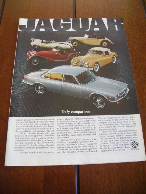 1978 JAGUAR XJ12 ***ORIGINAL VINTAGE AD*** V-12   eBay
