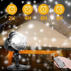 Christmas Decorative Lighting Projectors Snowflake Led Lights Rotating Snowfall 709466916015 Ebay