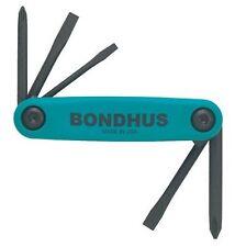 Bondhus 12547 GorillaGrip Utility Fold-up Set, Phillips and Slotted