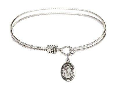 Madonna Del Ghisallo Charm. DiamondJewelryNY Eye Hook Bangle Bracelet with a St