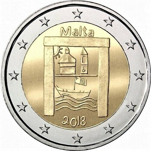 """Malta 2 euro coin 2018 /""""Cultural Heritage From Children in Solidarity/"""" UNC"""