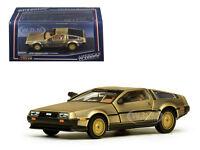 DE LOREAN DMC 12 COUPE GOLD 1/43 DIECAST MODEL CAR BY VITESSE 24001