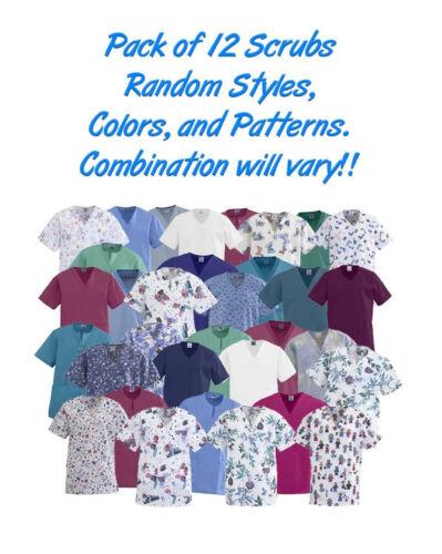 No Color May have Logos Style Choice Scrub Tunics 12//Pack Pattern