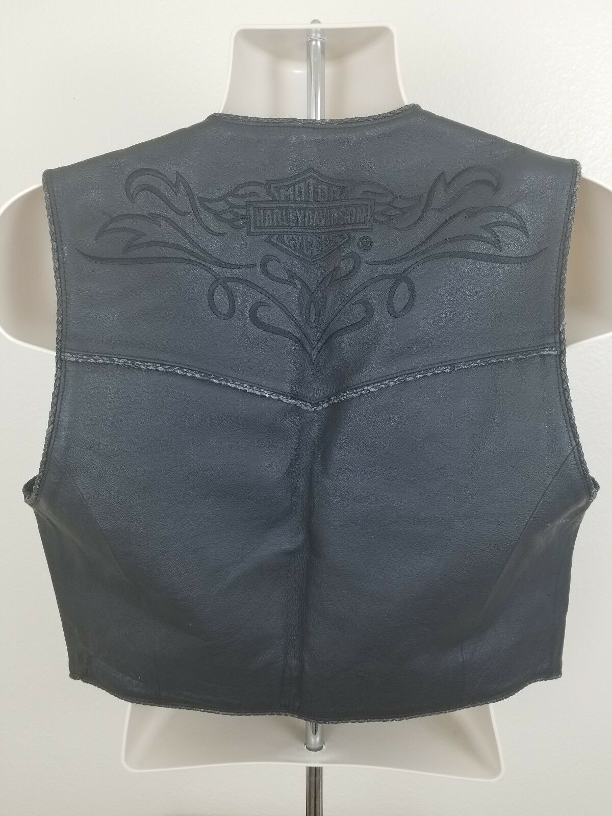 L Womens Harley Davidson Motor Cycles Genuine Genuine Genuine Leather Vest 103819 Live To Ride 70b328