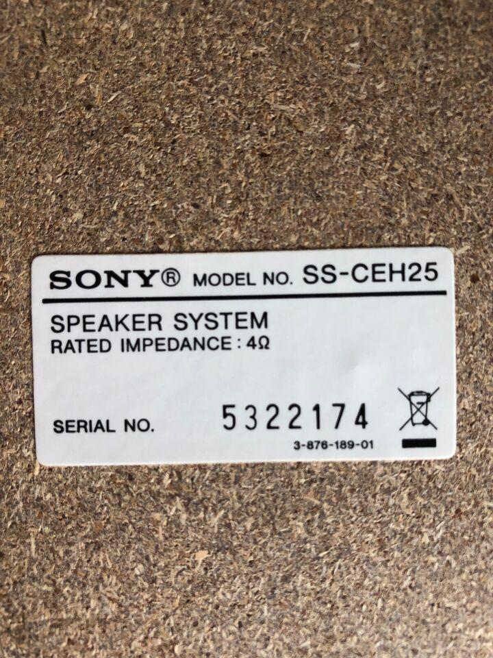 Højttaler, Sony