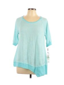 Calvin Klein Performance Women's Blouse Top Size Large Blue Striped New with Tag