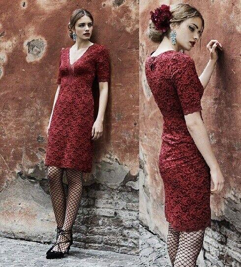 Vive Maria Vestido red Vestido Red Dress Glamour Encaje Romántico 343752