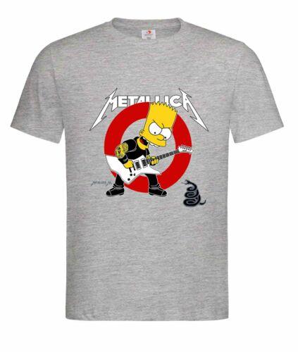 Unisex T-Shirt Metallica,Heavy Metall,Hardrock Bart Simpson