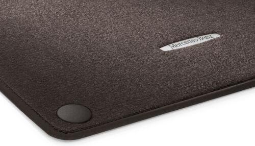 Mercedes Benz original gamuza felpudos w222 sklasse RHD espresso marrón nuevo embalaje original