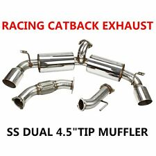 "4.5/""DUAL PATH BURN TIP MUFFLER CATBACK EXHAUST FOR 03-09 350Z 08 INFINITI G35"