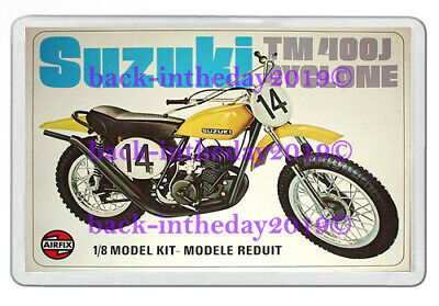 AIRFIX SUZUKI TM400J CYCLONE BOX ART NEW JUMBO FRIDGE LOCKER MAGNET