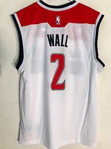 61891029d41 Image is loading Adidas-NBA-Jersey-Washington-Wizards-Wall-White-sz-