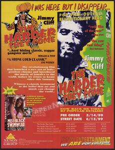 THE-HARDER-THEY-COME-Original-1999-Trade-Print-AD-ADVERTISEMENT-Jimmy-Cliff