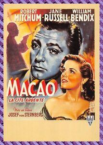 Carte-Postale-Affiche-de-Film-MACAO-LA-CITE-ARDENTE-Robert-MITCHUM