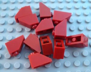 New LEGO Lot of 4 Dark Tan 1x2x2//3 Mini Slope Pieces