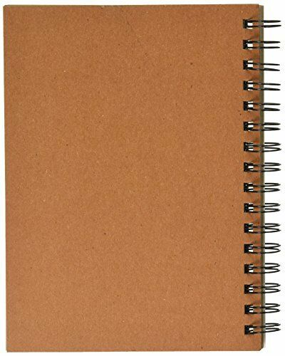 Spiral Toned Sketch Book Tan 50 Paper Sheets Pad Art Supply Drawing Sketchbook