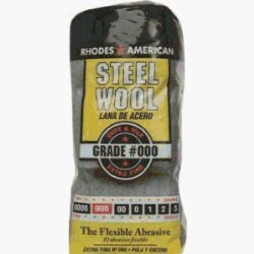 Homax 106101 Rhodes American Grade 000 Steel Wool 16 Pad Poly Sleeve *