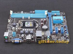 Details about ASUS P8H61-M LX3 R2 0 LGA 1155 Intel H61 DDR3 mATX VGA  Motherboard With I/O